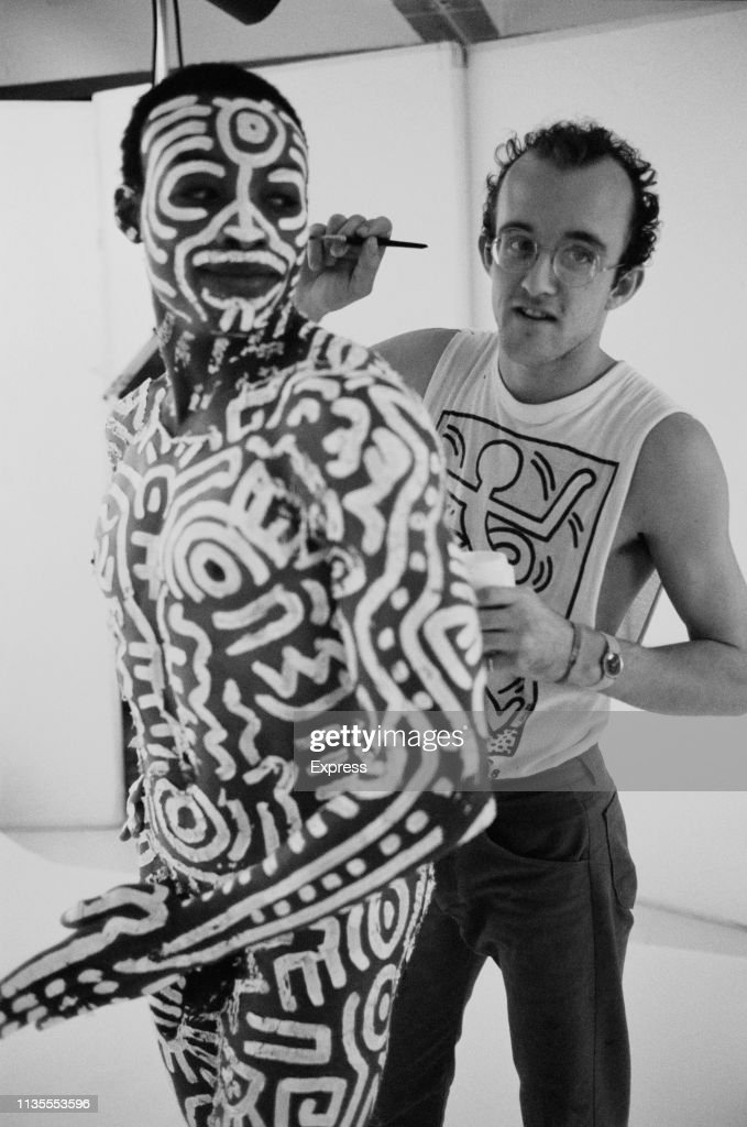 Keith Haring and Bill T. Jones : News Photo