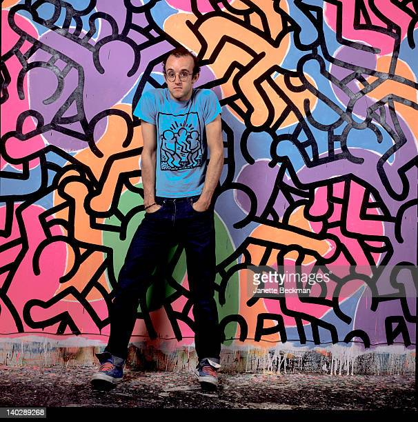 American artist Keith Haring in his studio New York City 1985