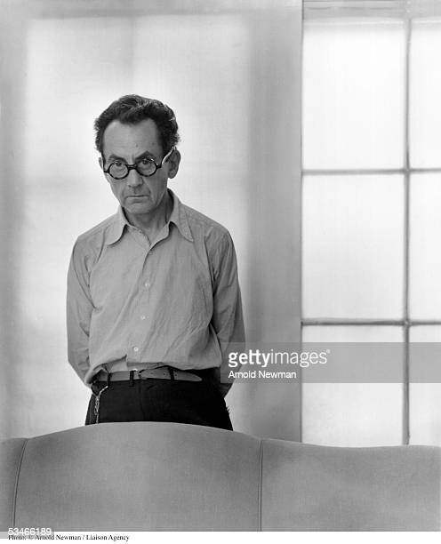 American artist Man Ray poses for portrait at his home June 13 1948 in Los Angeles California