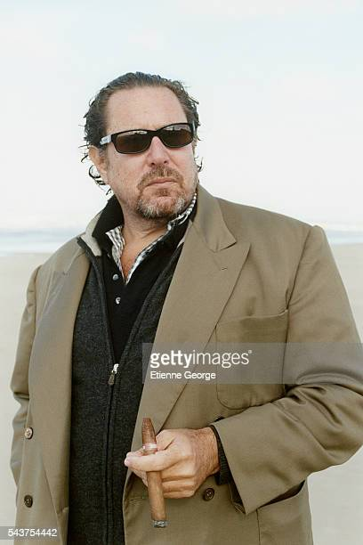 """American artist, painter and director Julian Schnabel on the set of his film """"Le Scaphandre et le Papillon"""" , based on the Jean-Dominique Bauby novel..."""