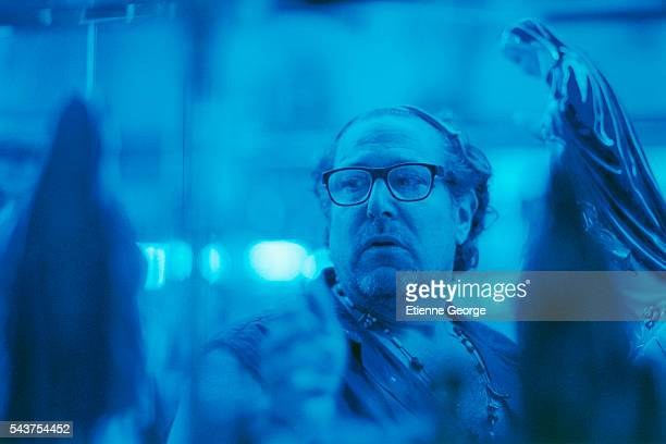 American artist painter and director Julian Schnabel on the set of his film Le Scaphandre et le papillon based on the JeanDominique Bauby novel by...
