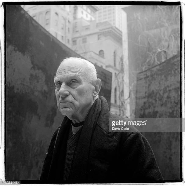 American artist Richard Serra at the MOMA sculpture Garden, New York on April 17 2007.