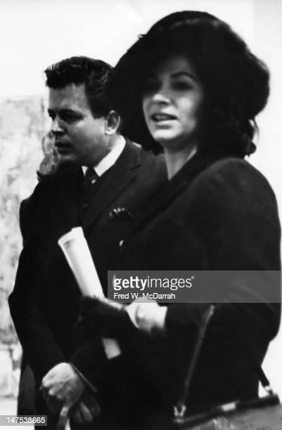 American artist Ruth Kligman attends a Jasper Johns exhibition at the Leo Castelli Gallery New York New York February 12 1960