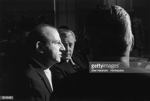 American assassin Jack Ruby sits in a courtroom during his trial Texas In 1963 Ruby shot and killed Lee Harvey Oswald the alleged assassin of...