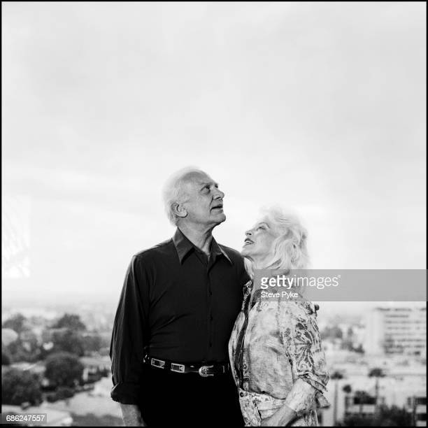 American astronaut Buzz Aldrin who served as the Lunar Module Pilot on the first moon landing in Apollo 11 with his wife Lois in Los Angeles USA 24th...