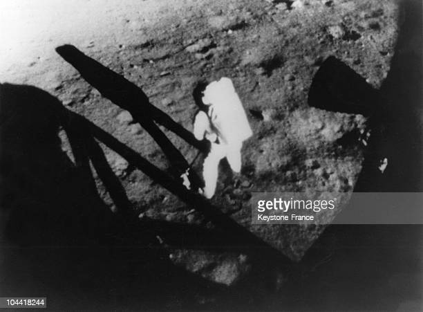 American astronaut Neil Armstrong put a foot on the moon July 21 1969 during the APOLLO 11 mission