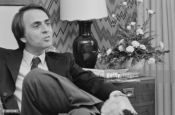 American astrophysicist author and broadcaster Carl Sagan pictured in London on 27th March 1981
