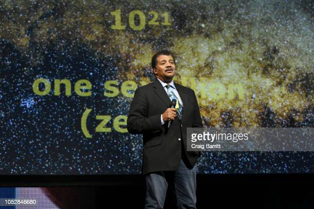 American Astrophysicist Neil deGrasse Tyson speaks onstage during the Onward18 Conference Day 1 on October 23 2018 in New York City