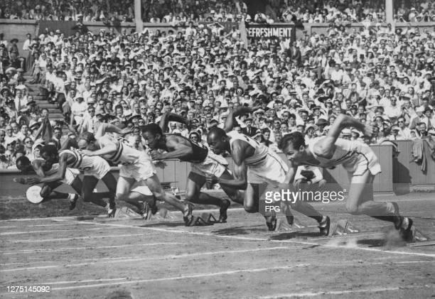 American athlete Harrison Dillard , Trinidad-born British athlete McDonald Bailey , British athlete Alastair McCorquodale , Panamanian athlete Lloyd...