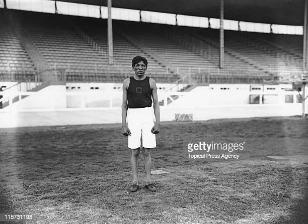 American athlete Lewis Tewanima during the 1908 Summer Olympics in London July 1908