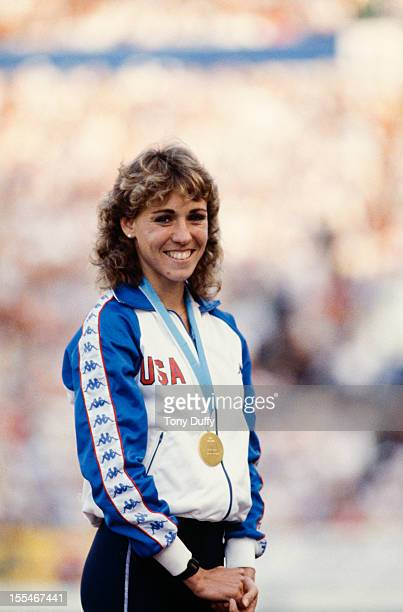 American athlete Mary Decker wins at the World Championships in Helsinki Finland 1983