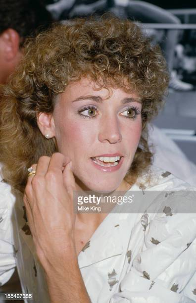 American athlete Mary Slaney formerly Mary Decker at a press conference 17th July 1985