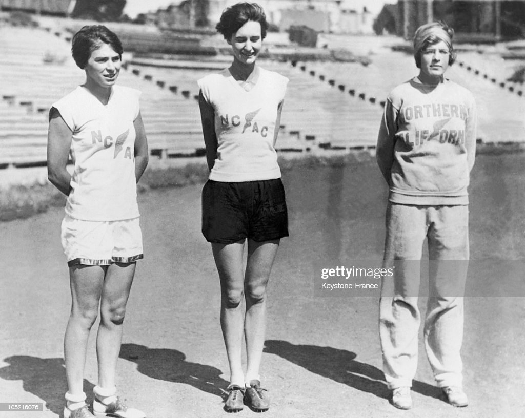 American Athletes Doris Metcalf, Rose Mallor And Marion Holley In 1928 : News Photo