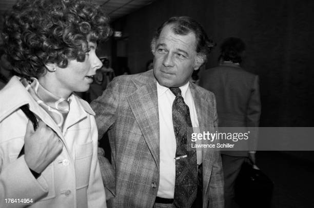 American attorney F Lee Bailey and his wife Lynda Hart walk together at night San Francisco California 1976 At the time Bailey was serving as the...