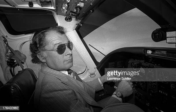 American attorney F Lee Bailey pilots a small plane San Francisco California 1976 At the time Bailey who had been a military pilot was serving as the...