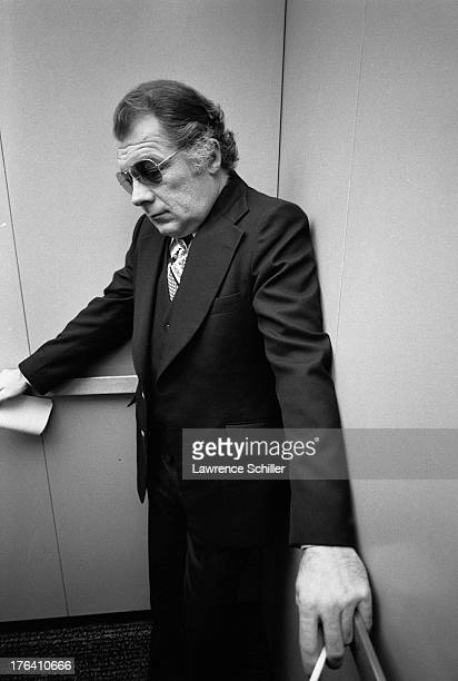 American attorney F Lee Bailey stands in an elevator San Francisco California 1976 At the time Bailey was serving as the lead defense lawyer during...