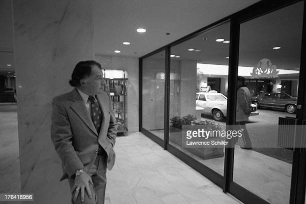 American attorney F Lee Bailey stands in the lobby of the Stanford Court hotel San Francisco California 1976 At the time Bailey was serving as the...