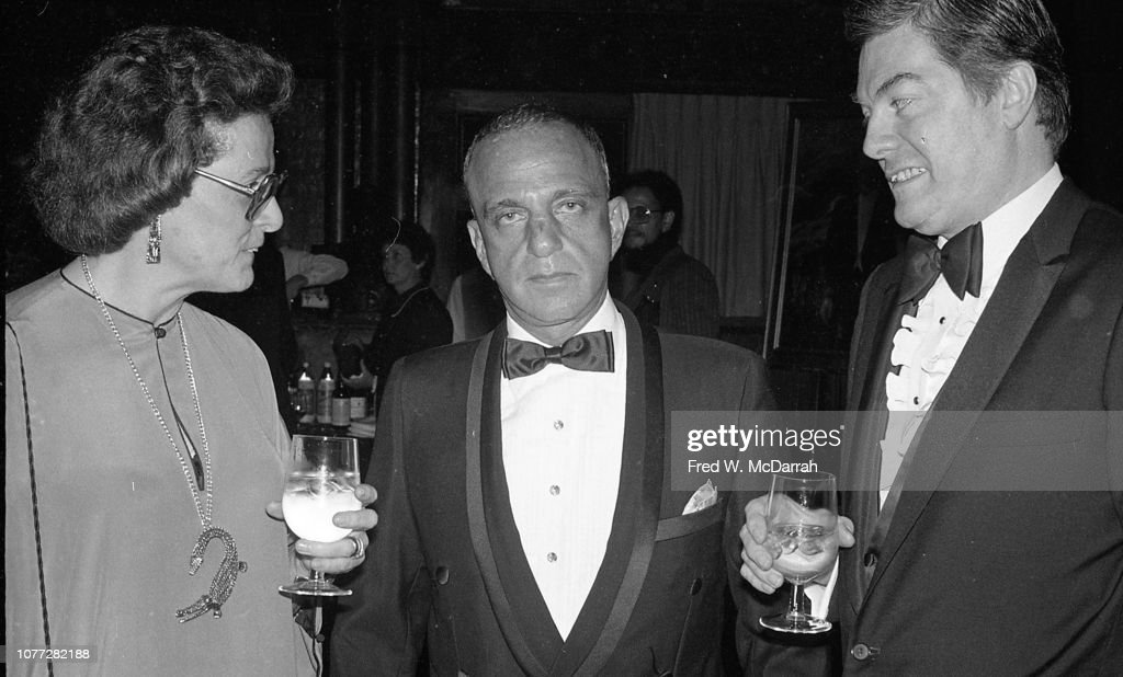 Roy Cohn & Guests At Birthday Party : News Photo