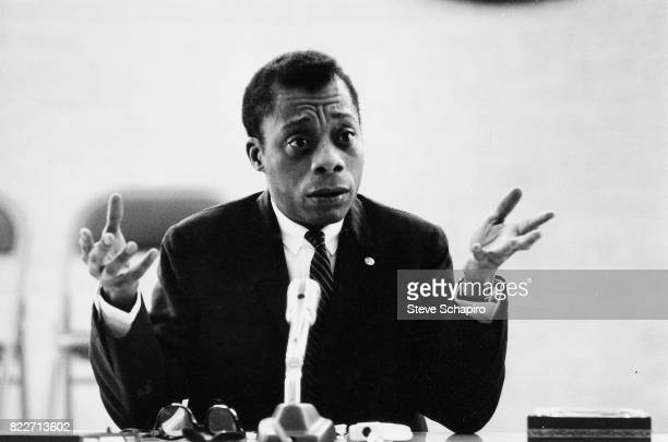 American author and activist James Baldwin speaks during an event at Xavier University of Louisiana New Orleans Louisiana 1963