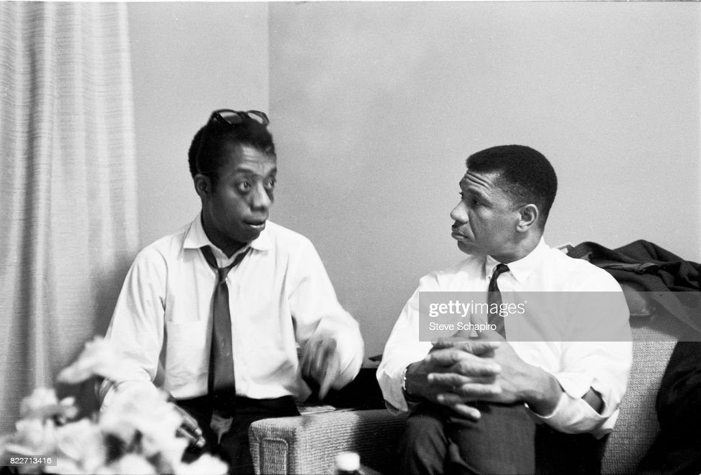 American author and activist James Baldwin (1924 - 1987) (left) speaks with Civil Rights activist Medgar Evers (1925 - 1963), 1960s.