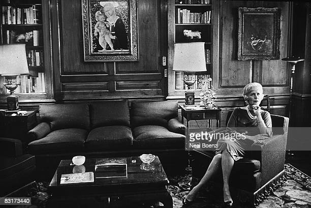 American author and diplomat Clare Boothe Luce in her apartment on Fifth Avenue NYC 15th October 1964 She announced that year that she was running...
