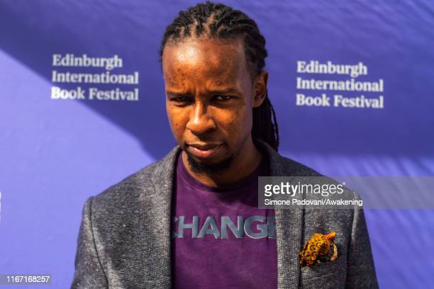 American author and historian Ibram X Kendi attends a photocall during Edinburgh International Book Festival 2019 on August 10, 2019 in Edinburgh,...