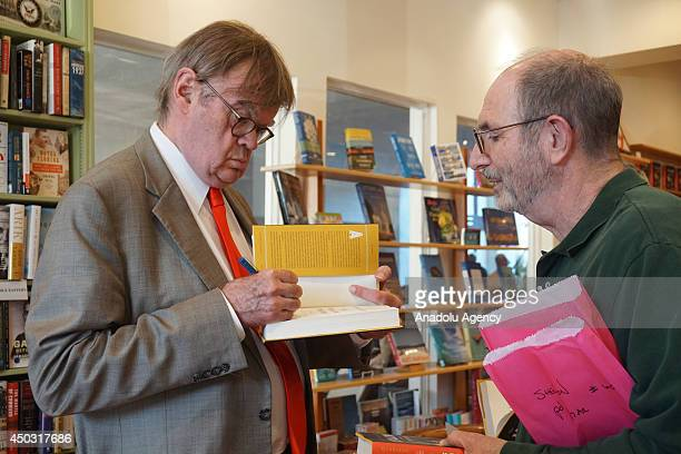 American author and poet Garrison Keillor autographs his new book 'The Keillor Reader' in autograph session in Los Angeles United States on 7 June...