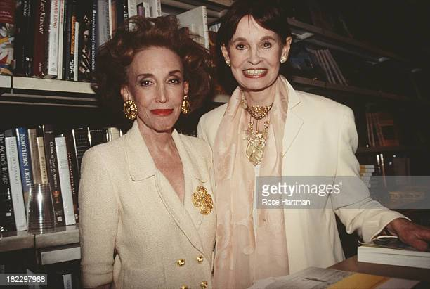 American author and publisher Helen Gurley Brown and American author, heiress and socialite Gloria Vanderbilt attend a book signing on Madison...