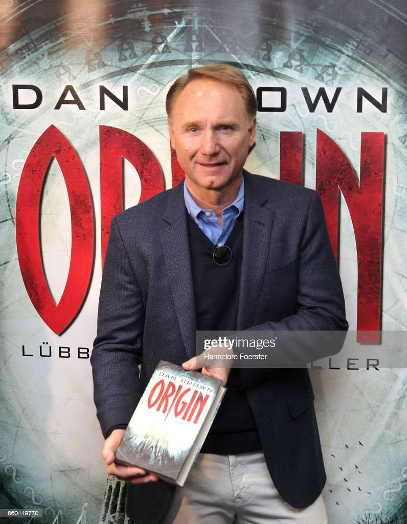 American author Dan Brown during a press conference at the 2017 Frankfurt Book Fair (Frankfurter Buchmesse) on October 12, 2017 in Frankfurt am Main, Germany. The 2017 fair, which is among the world's largest book fairs, will be open to the public from October 11-15.