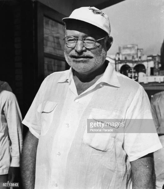American author Ernest Hemingway in Havana, Cuba, late 1950s.