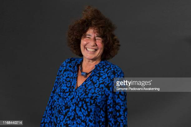 American author Francesca Simon attends a photo call during Edinburgh International Book Festival 2019 on August 16, 2019 in Edinburgh, Scotland.