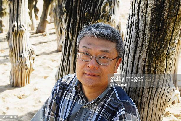 American author Ha Jin poses while at the Saint Malo Book Fair in Saint Malo France on the 5th of June 2006