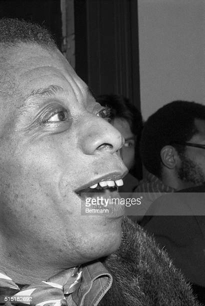 1/13/1979 American Author James Baldwin Head Portrait smiling and alone