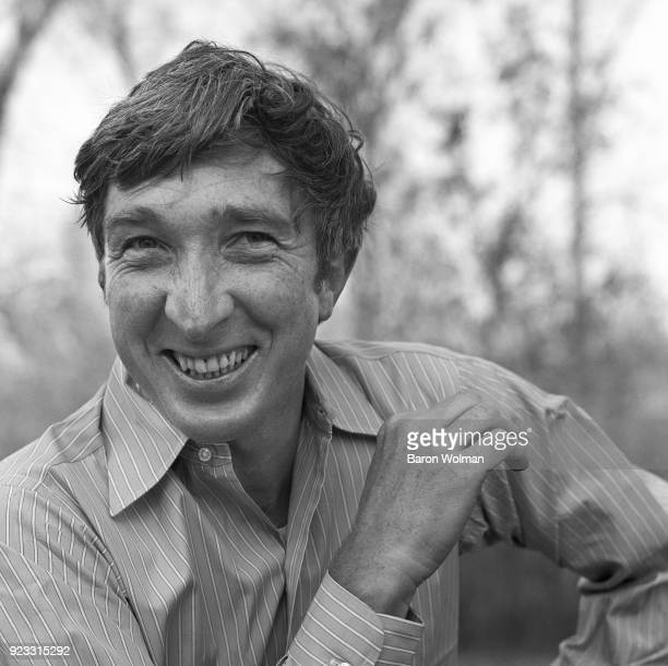 American author John Updike photographed for Esquire magazine in 1971