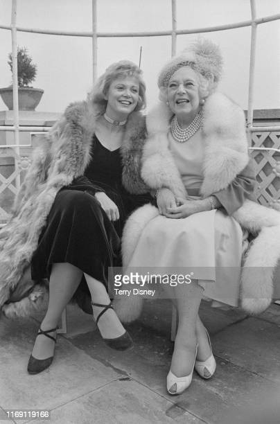American author Kathryn Falk and English novelist Barbara Cartland UK 13th March 1984