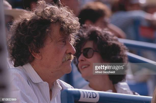 American author Kurt Vonnegut attends a match at the National Tennis Center later the USTA Billie Jean King National Tennis Center in the Flushing...