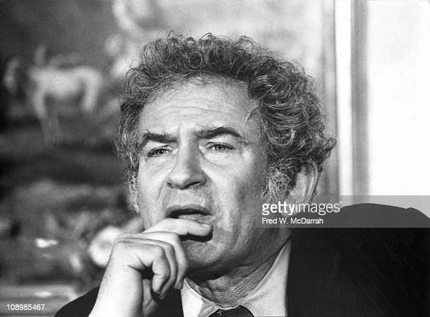 American author Norman Mailer answers a question at a press conference New York New York February 6 1973