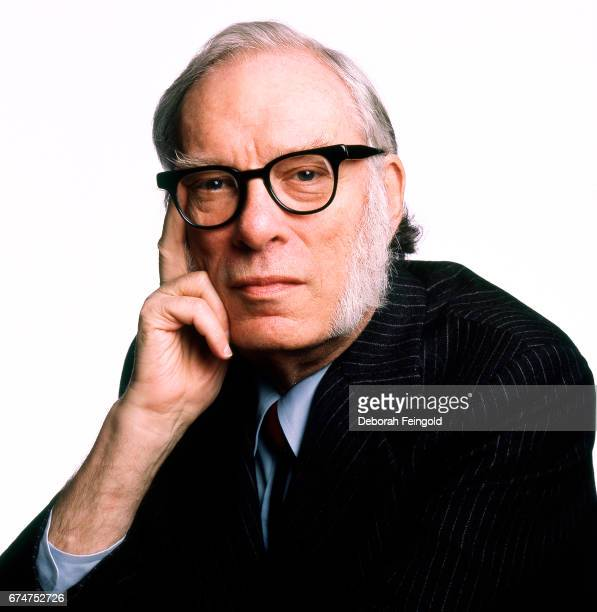 American author of science fiction Isaac Asimov poses for a portrait in 1987 in New York City New York