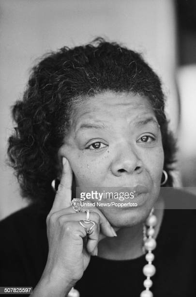 American author, poet and singer Maya Angelou pictured in London on 21st October 1985.