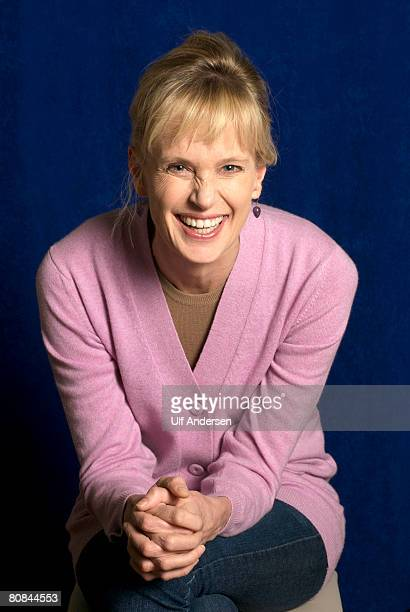 American author Siri Hustvedt poses while in ParisFrance on April 02 2008
