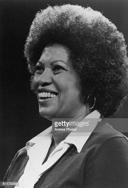 American author Toni Morrison appears as a guest on 'The Dick Cavett Show' to promote her novel 'Song of Solomon' November 1977