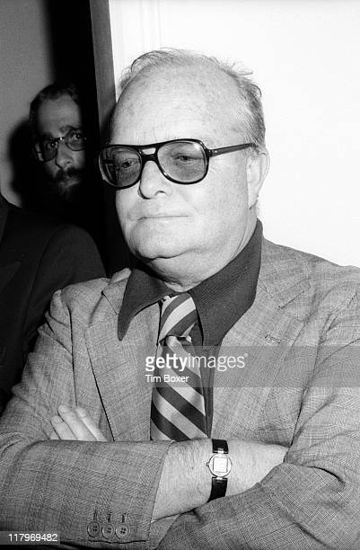 American author Truman Capote attends an album release party for musician Bobby Short's record 'My Personal Property' at the Carlyle Hotel bar New...