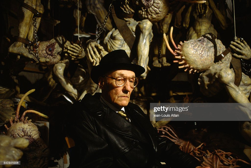 American author William Burroughs appears on the set of