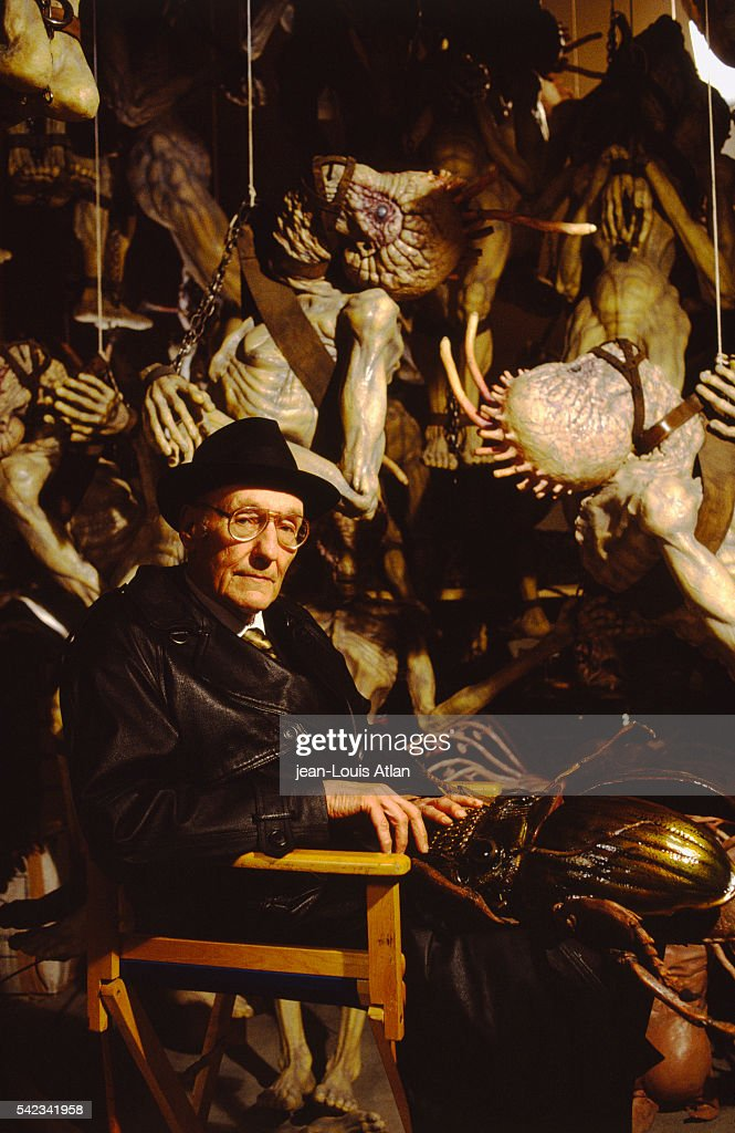 American author William Burroughs assists on the set of
