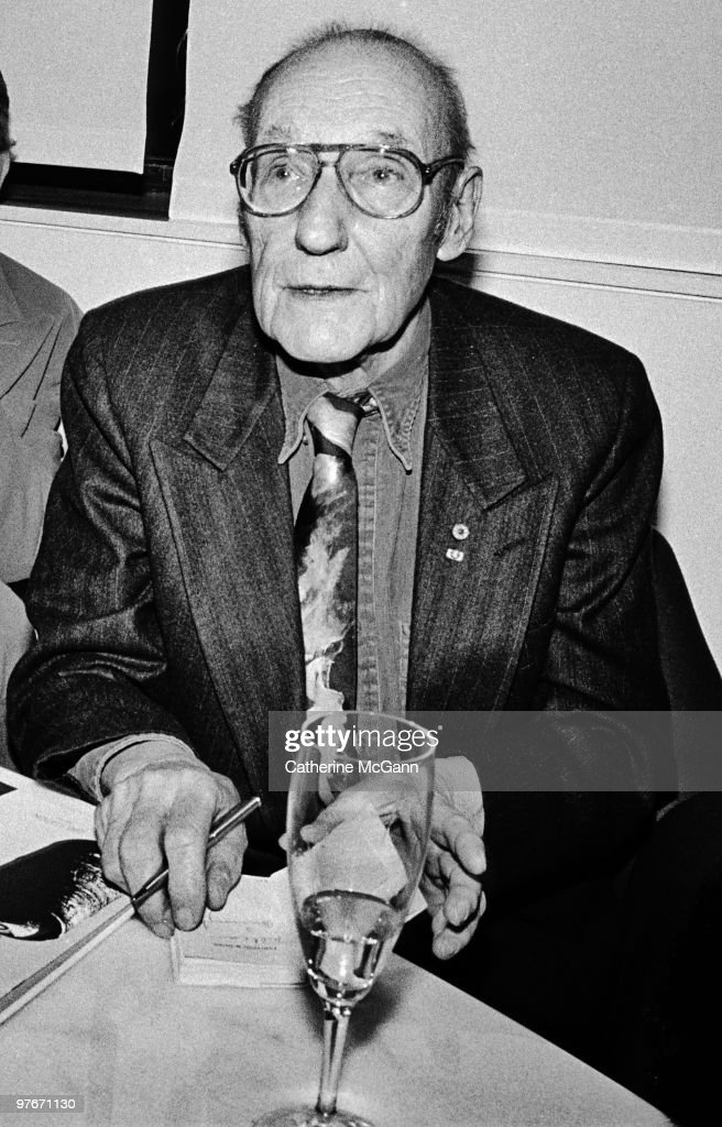 American author William S. Burroughs (1914 - 1997) poses for a photo in January 1993 in New York City, New York.
