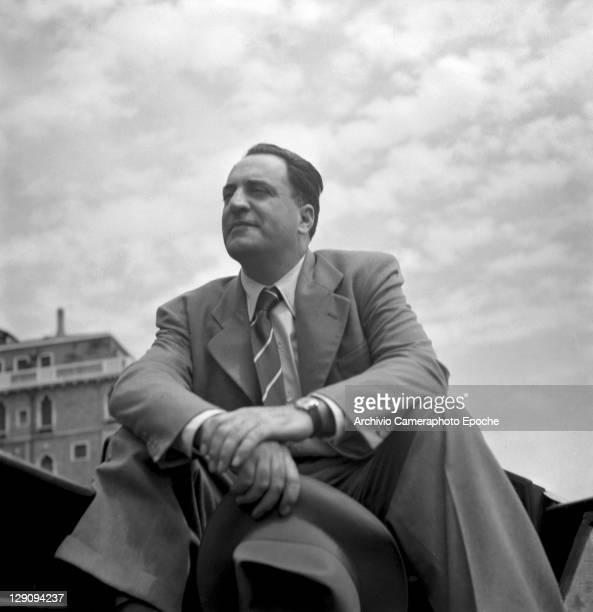 American author William Saroyan in Venice 1949