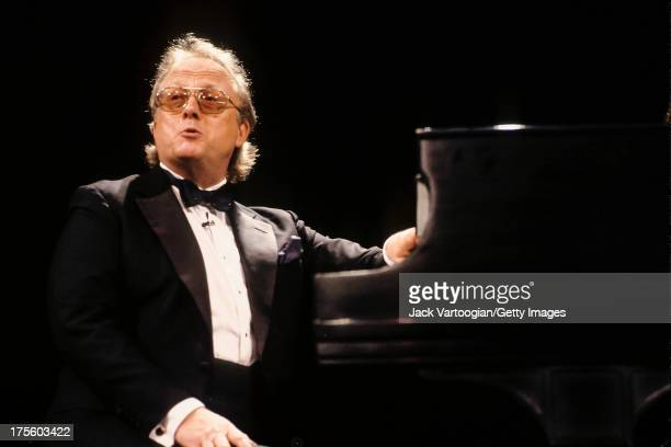 American avantgarde and popular music composer William Bolcom plays piano at a concert entitled 'Yesterdays An Afternoon of American Popular Song and...