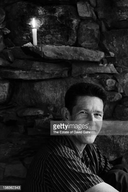 American avantgarde composer John Cage poses for a portrait at home for his 1959 Folkways album 'Indeterminacy' in August 1959 in Haverstraw New York