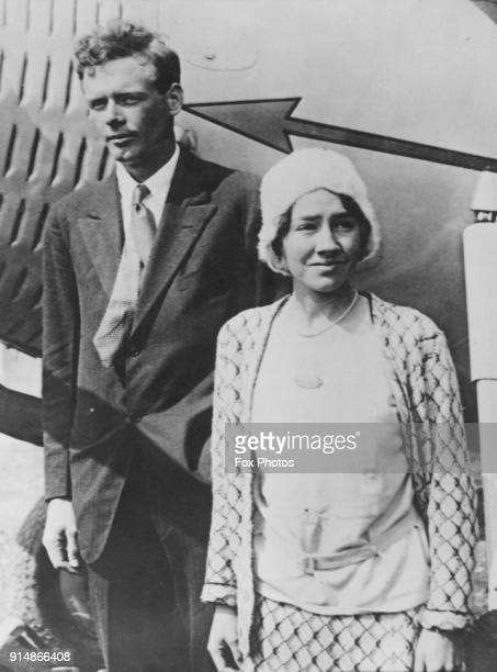 American aviator Charles Lindbergh and his wife Anne Morrow Lindbergh, 1929.