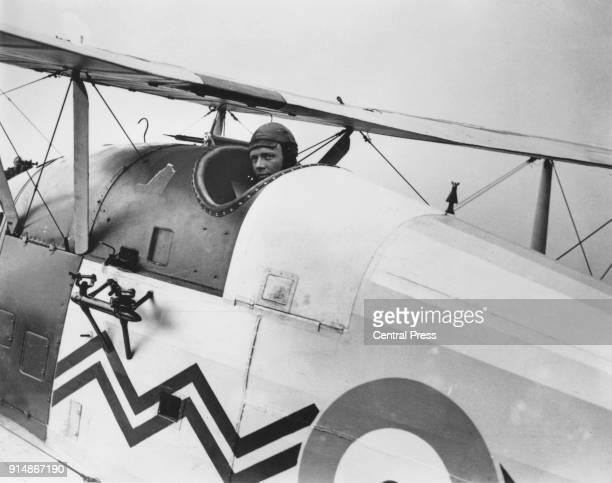 American aviator Charles Lindbergh arrives at Croydon Airport in the UK after his historic flight across the Atlantic, May 1927.